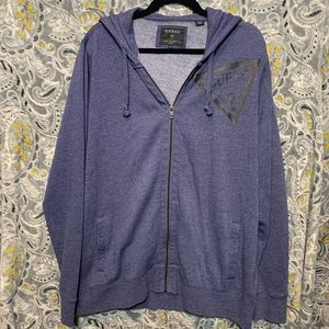 Other - GUESS Men's XL Blue Zip Up Hoodie